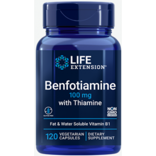 Benfotiamine with Thiamine 100mg (Life Extension)