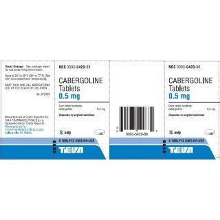 Cabergoline 0.5mg  (8 tablets)