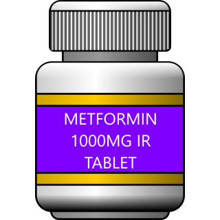Metformin 1000mg IR tablet